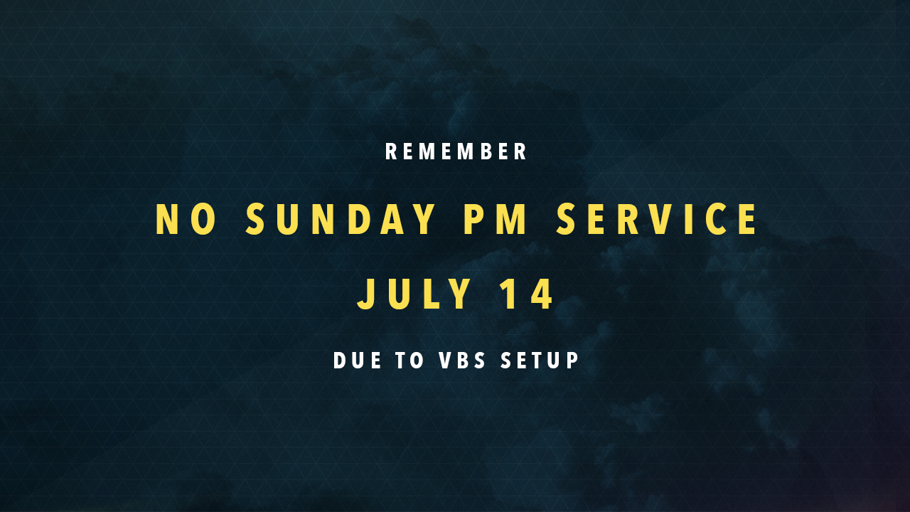 No Sunday Night Service or re|engage