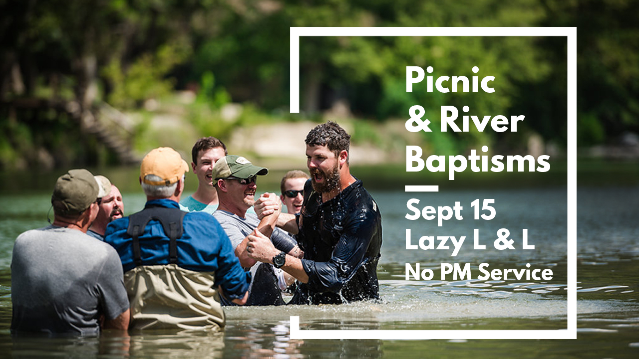 Church Picnic and River Baptisms